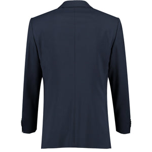 Back perspective for dark blue suit
