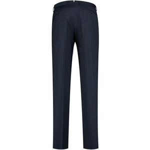 Back perspective of dark blue pants