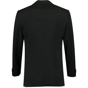 Back perspective of black suit for men