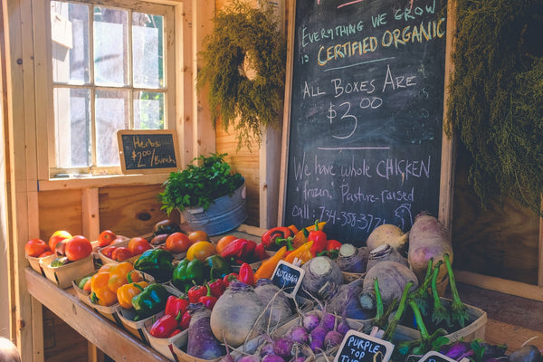 How can I reduce my emissions? A fresh food stall
