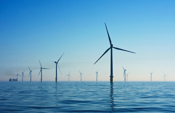 How can I reduce my emissions? Wind turbines over water