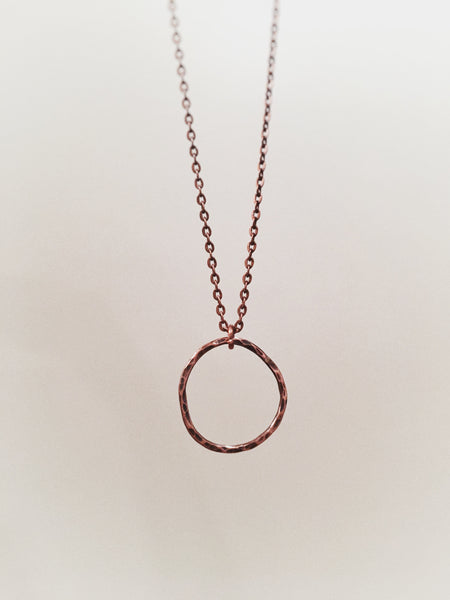Copper Organic Circle Necklace