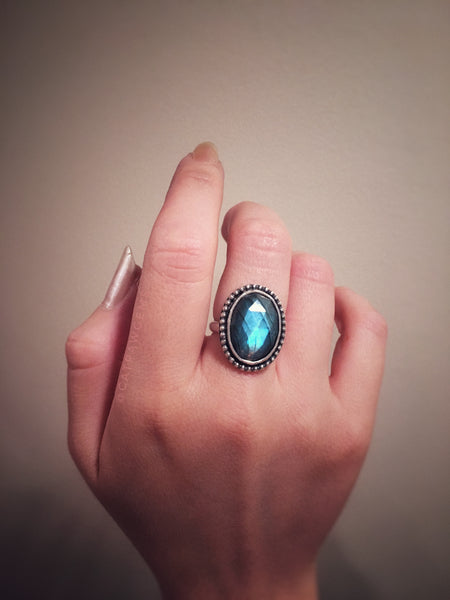 Labradorite Ring - sizes 5 & 6.5