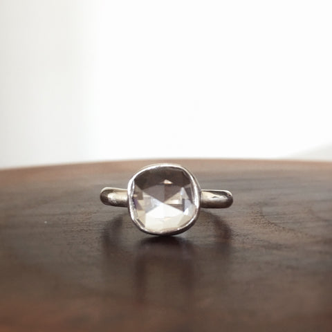 Clear Quartz Ring - size 6