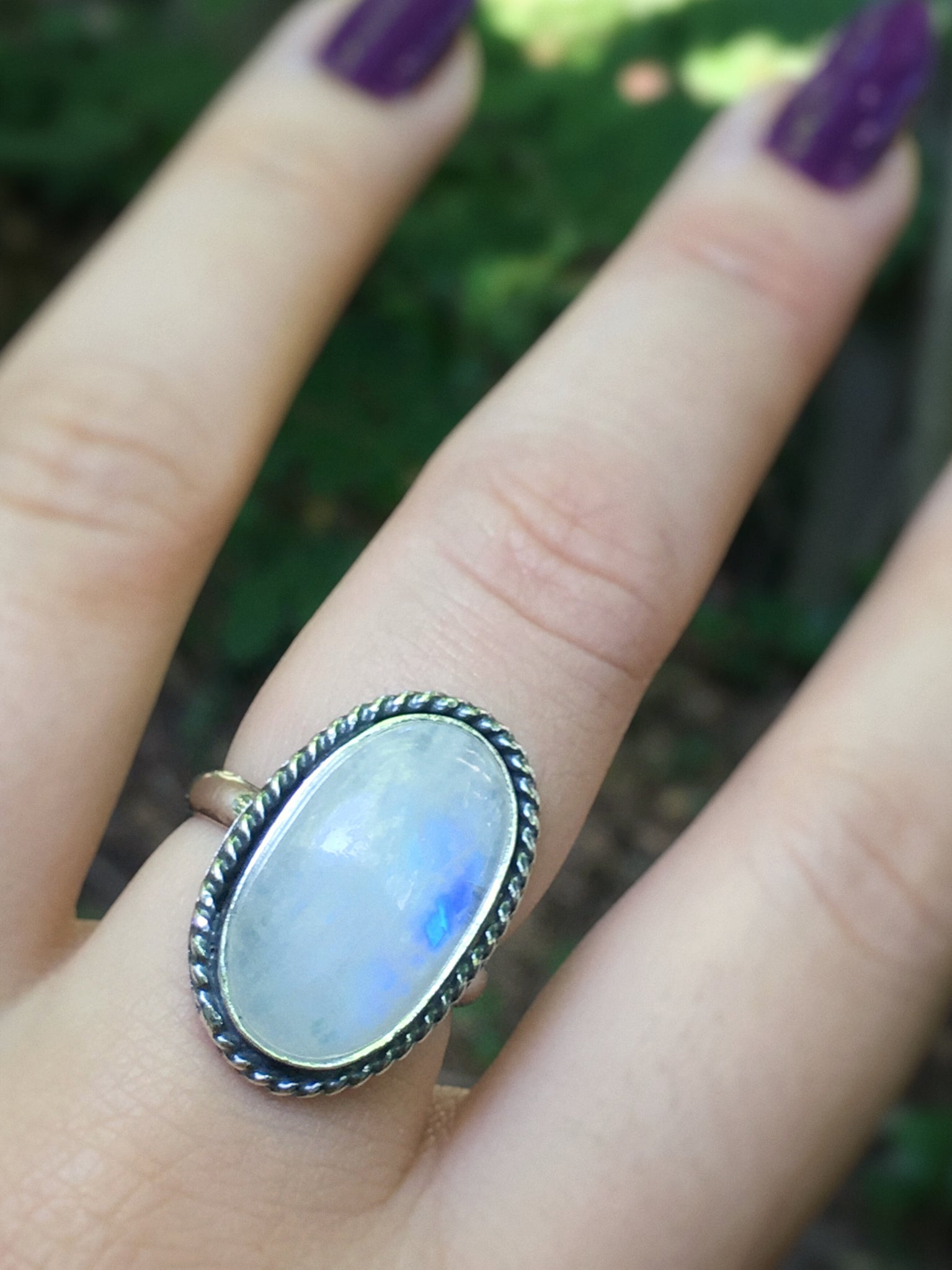 Moonstone Ring - size 6.75