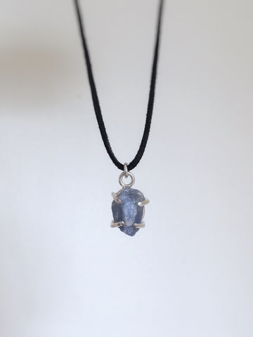 Rough Raw Sapphire Necklace