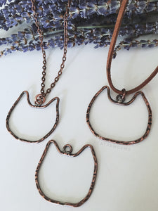 Copper Cat Necklace
