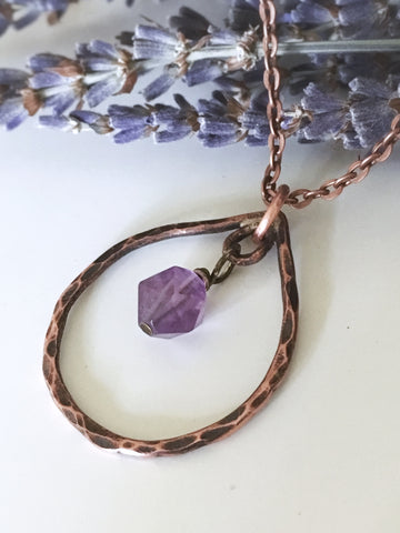 Copper Amethyst Necklace