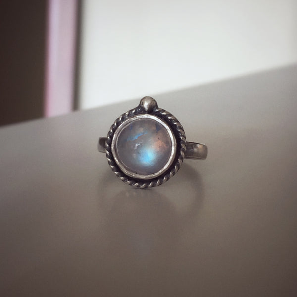 Moonstone Ring - size 9.5