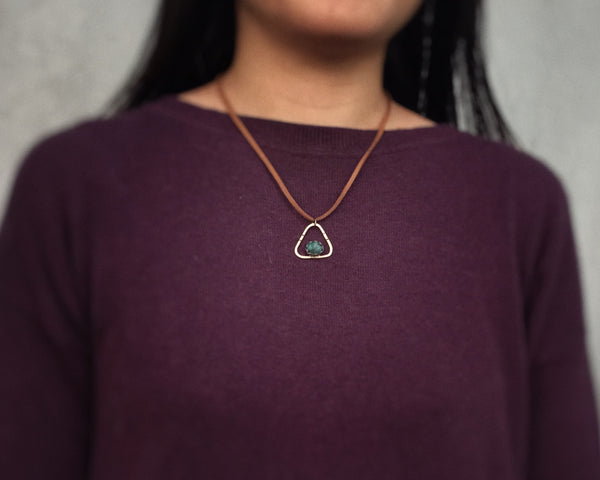 Emerald Triangle Necklace