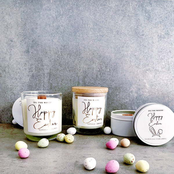'HAPPY EASTER'  Glass Jar