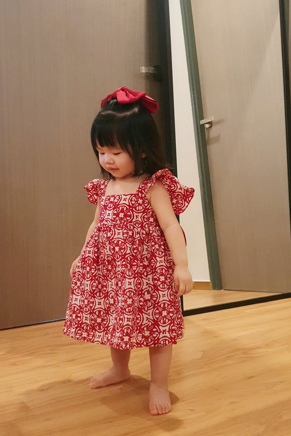 Little Bella Batik Bow Dress - Mala