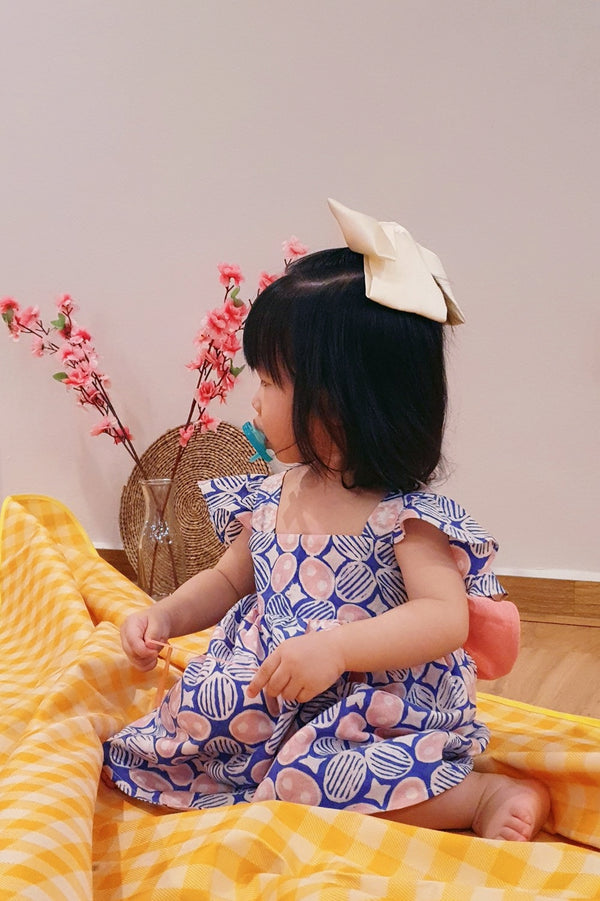 Little Bella Batik Bow Dress - Paddlepop