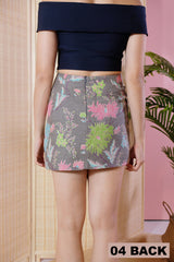 Alyssia Batik Mini Skirt - UK8