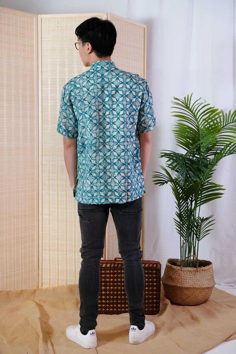 Pokka Batik Top - Bluebelle