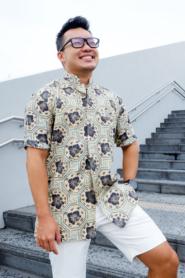 Midnight Vanda Batik Shirt