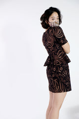 Pixie Batik Peplum Dress - Hidden Phoenix