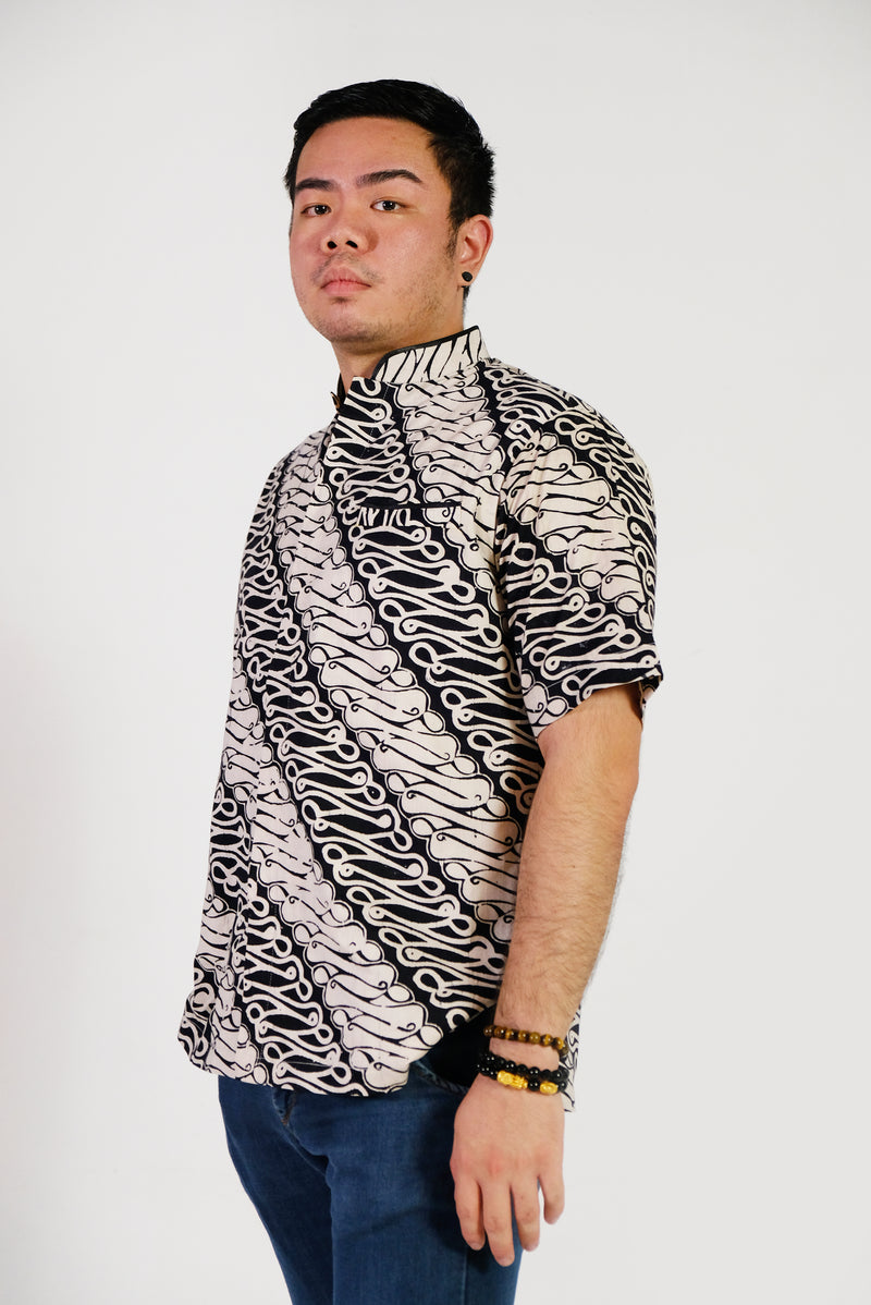 Black Sea Batik Shirt
