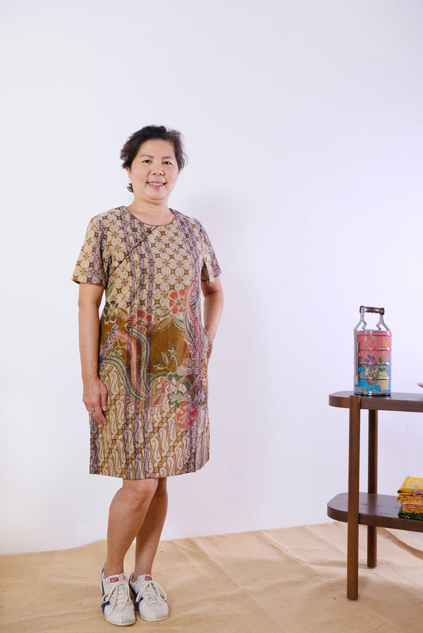 Caishen Batik Cheongsam Dress - Autumn Phoenix