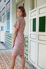 Tyra Batik Cheongsam Dress - Cashmere