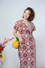 Sora Batik Maxi Dress - Red Gems