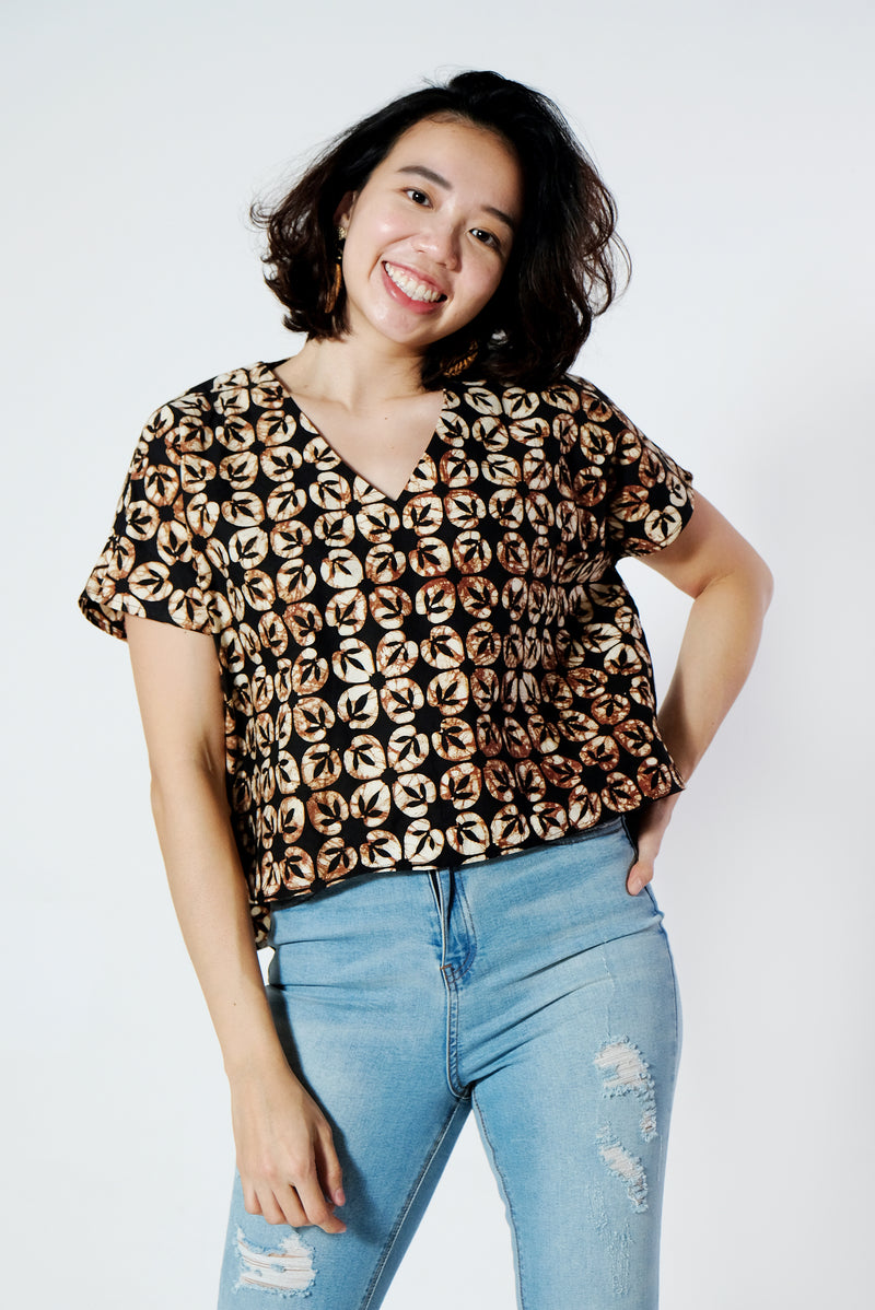 Aries Batik Top - Choco Banana