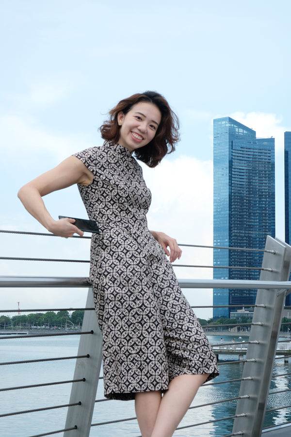 Rhea Batik Cheongsam Jumpsuit - Imperial March