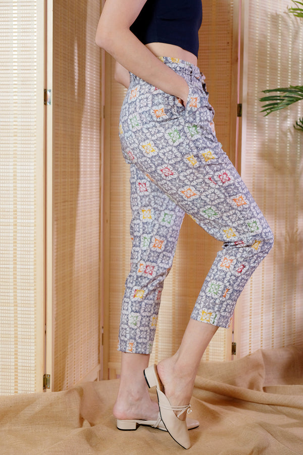 Rio Batik Pegged Pants - Puzzle Bubble