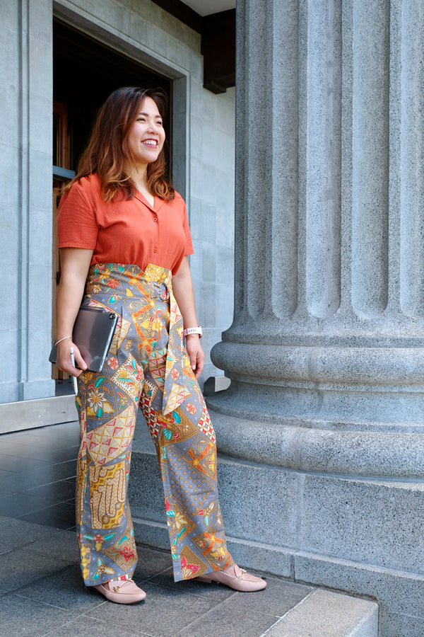 Chica Batik Straight Leg Pants - Citrus Dream