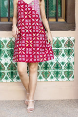 Trixie Batik Sundress - Red Pixels