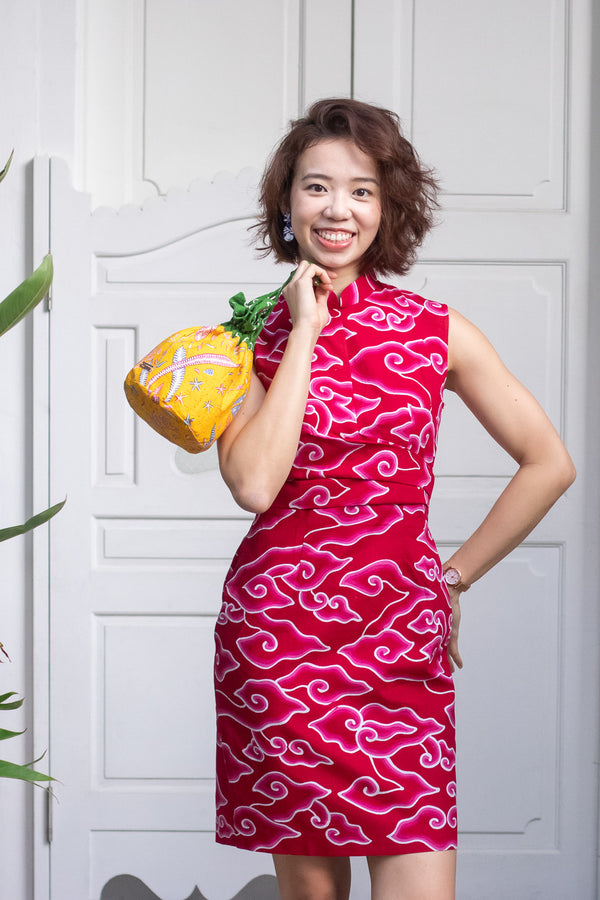 Kate Batik Cheongsam Dress - Ruby Clouds