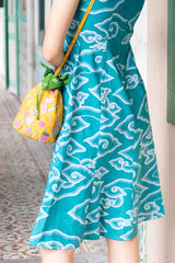 Enny Batik Cheongsam Dress - Emerald Clouds