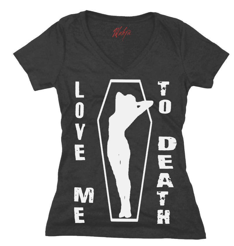 Love Me To Death Coffin Cutie Women's Tee Shirt.