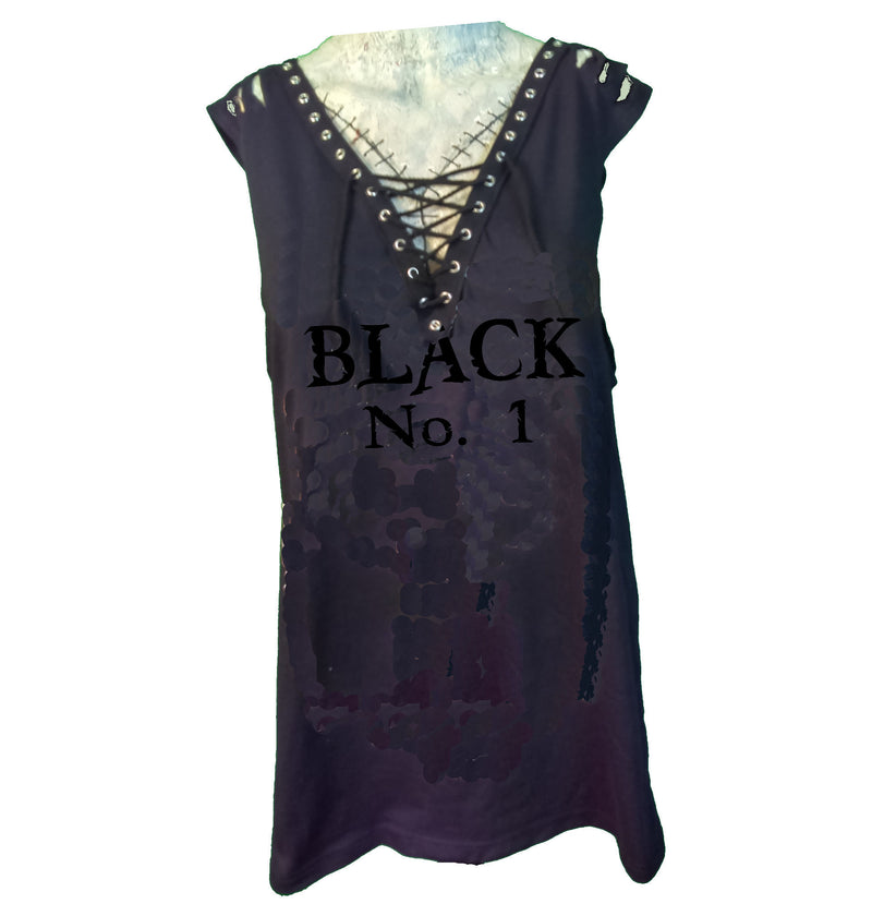 Custom Rocker Girl Tank - Black No 1