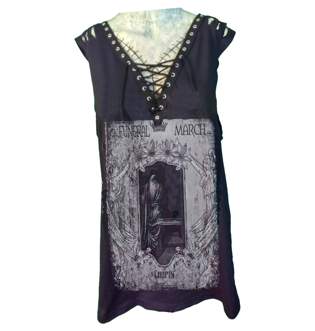 Custom Rocker Girl Tank - Funeral March