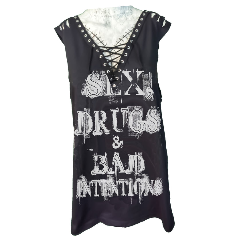 Custom Rocker Girl Tank - Sex, Drugs & Bad Intentions