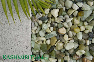 Kashmiri Pebbles Polished Range of Decorative Rocks - 20 Kg Bags