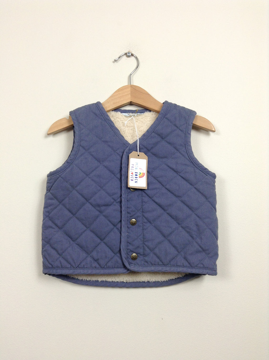 Grey Quilted Gilet With Cosy Lining
