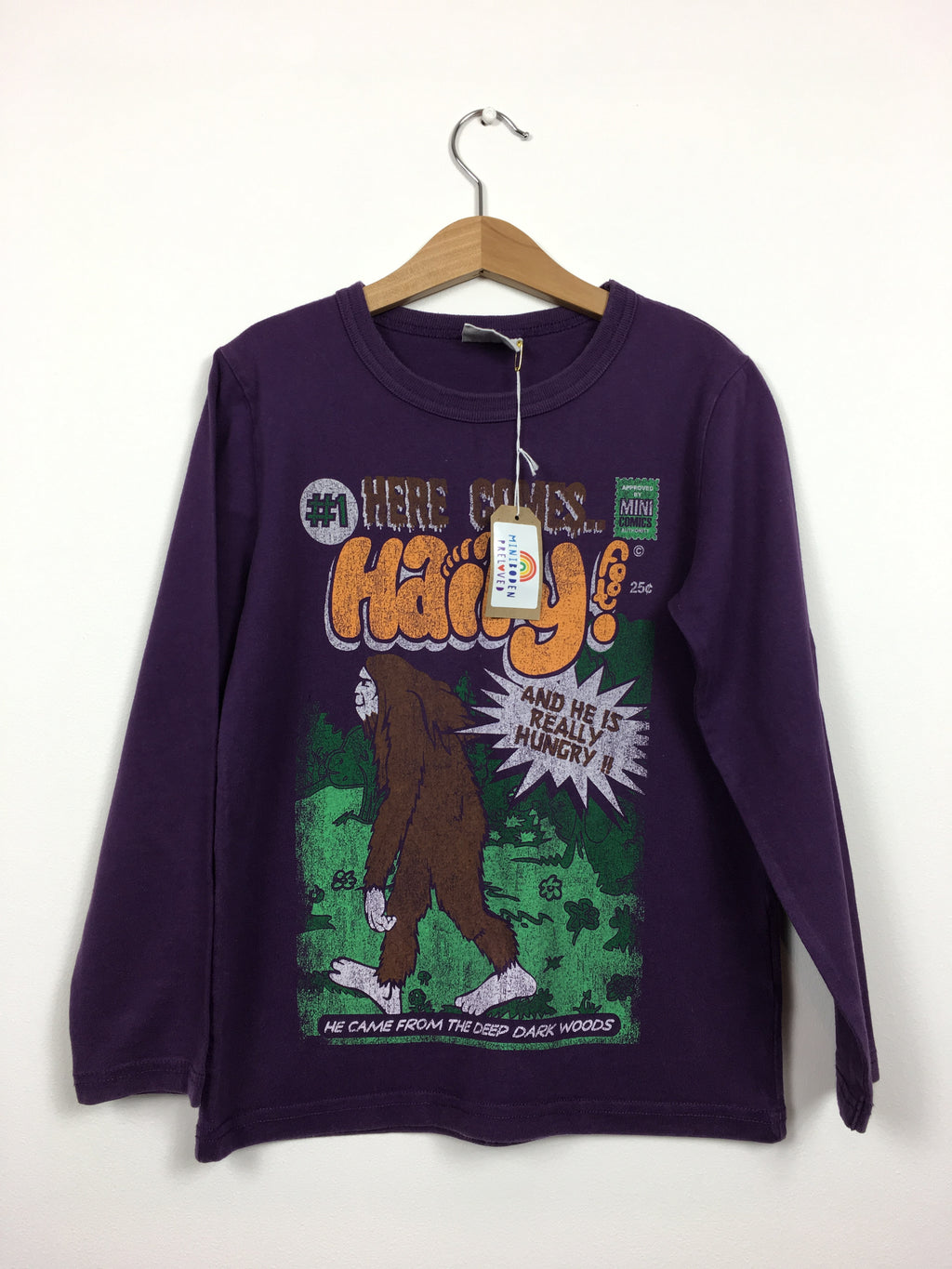 Purple Monster Print Top (Age 7-8 Years)