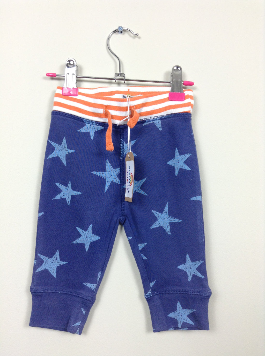 Navy Blue Star Joggers (Age 3-6 Months)