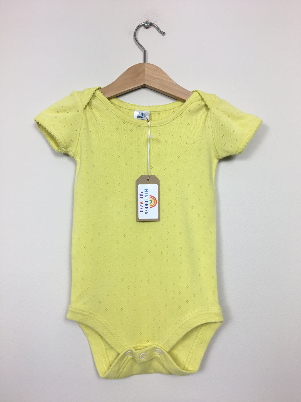 Yellow Pointelle Vest Top (Age 12-18 Months)