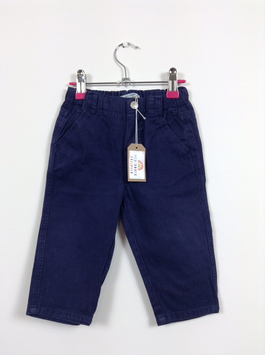 Navy Blue Chinos (12-18 Months)