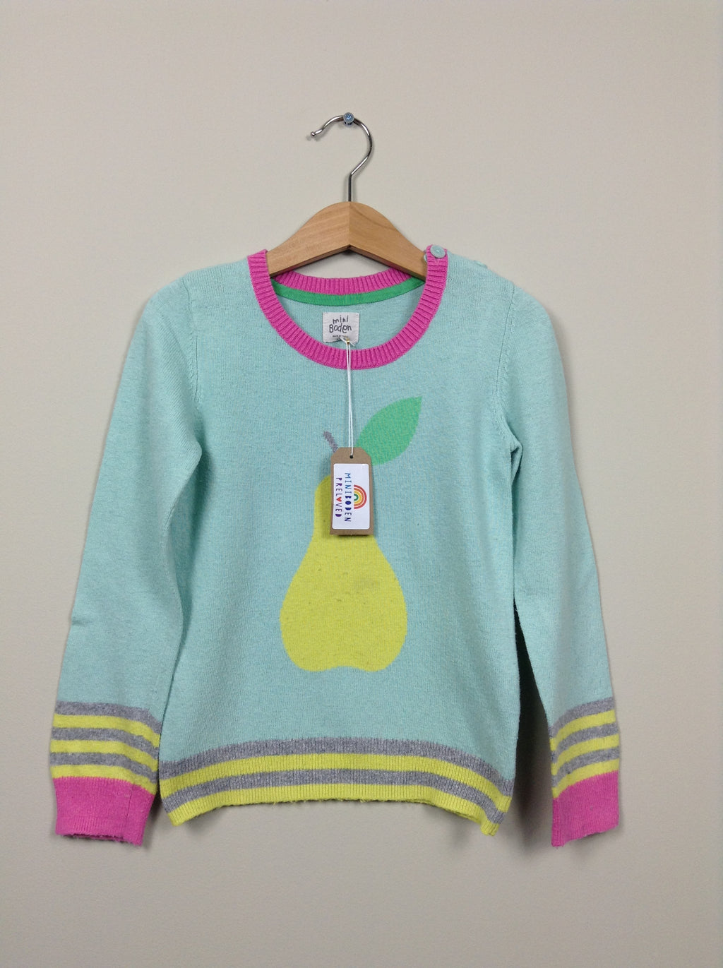 Gorgeous Pear Print Knitted Jumper (Age 4-5 Years)
