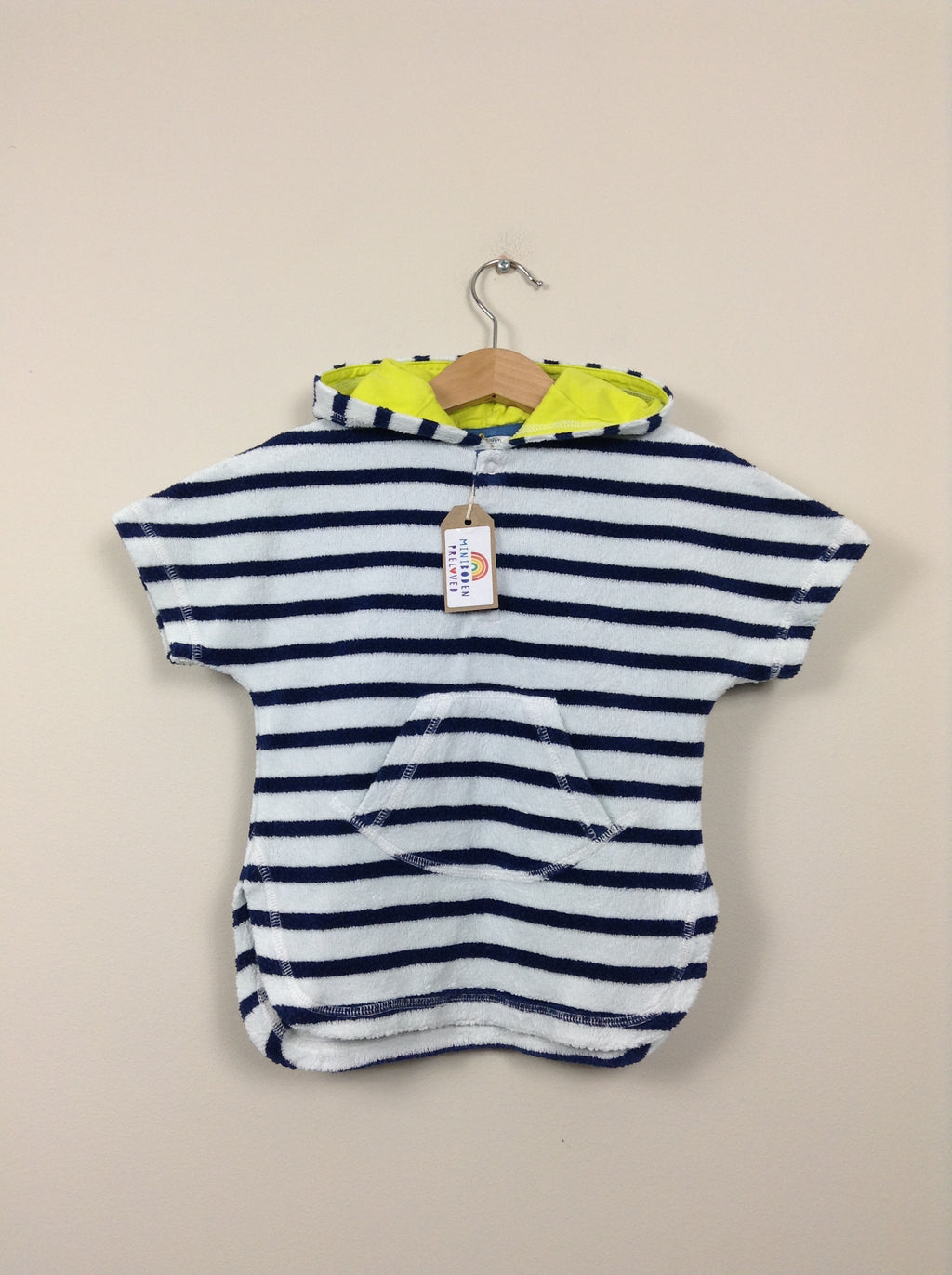 Blue & White Stripey Towelling Dress