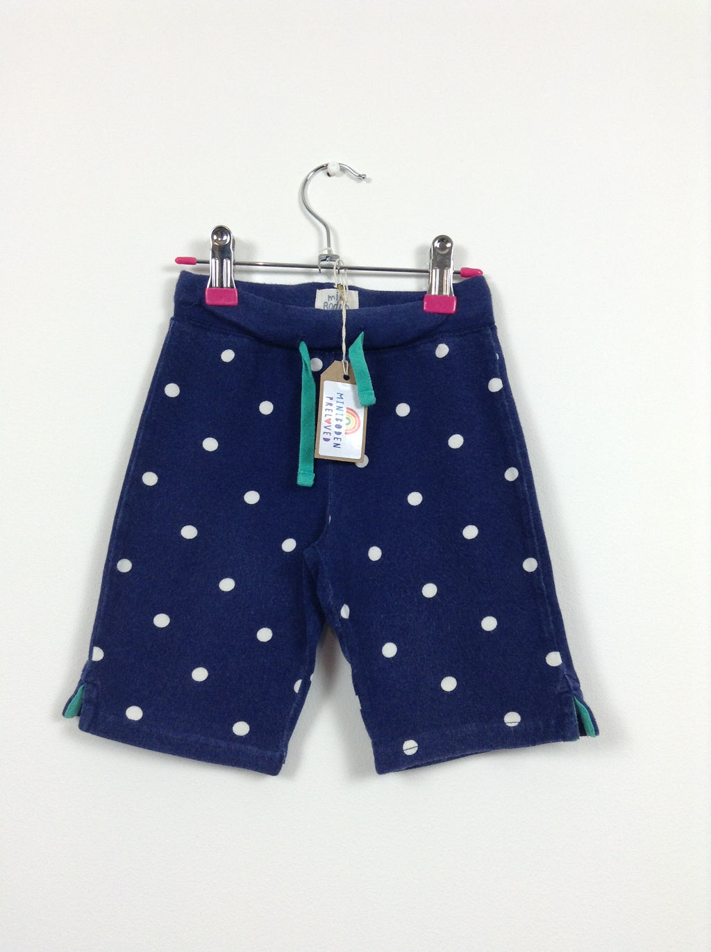 Navy Spotty Jersey Shorts