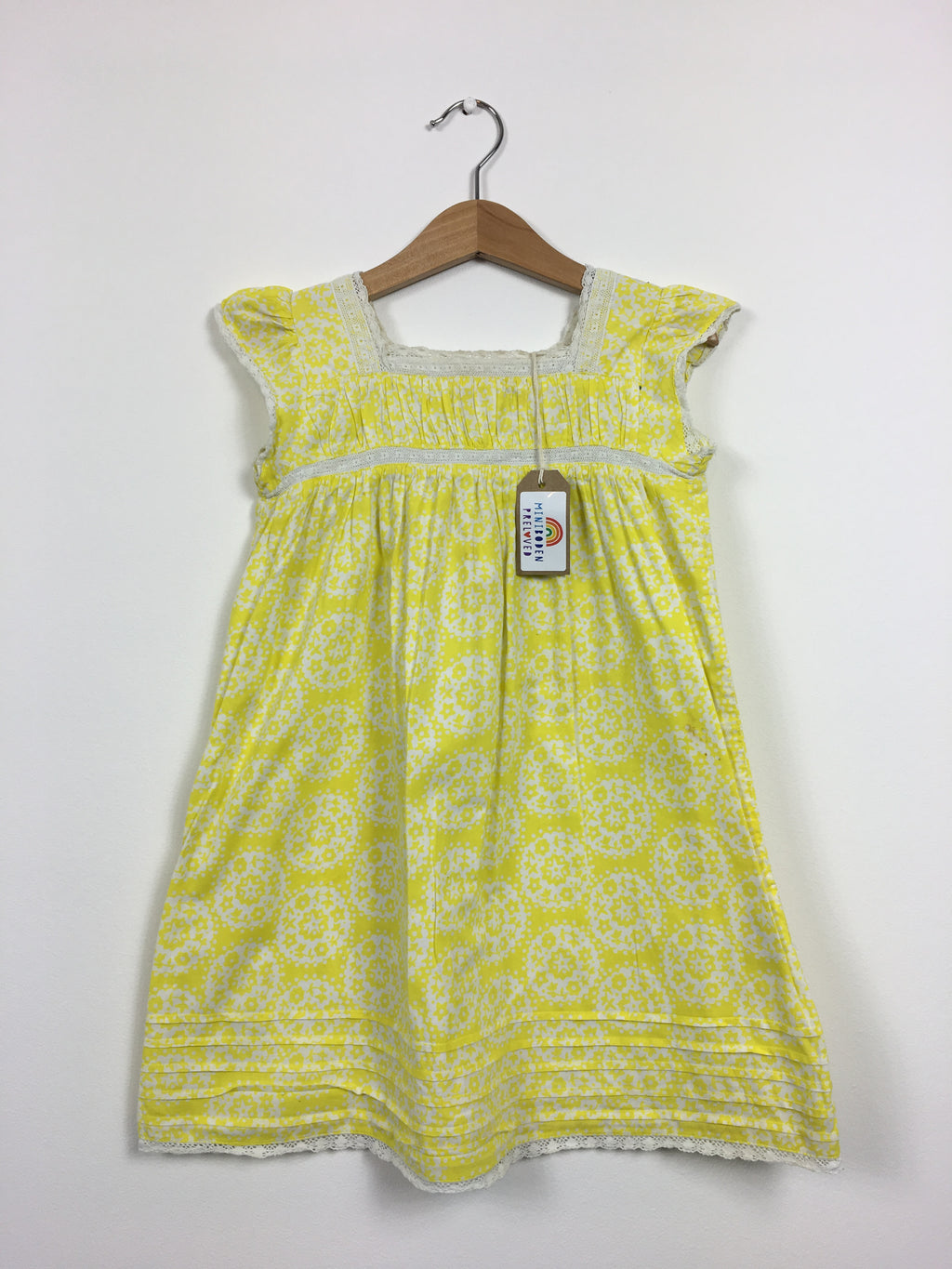 Mini Boden Preloved Floral Yellow Sundress