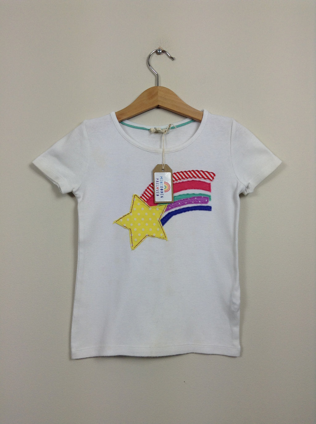 White Appliqué Star Top