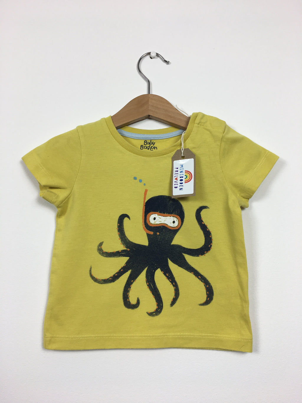 Yellow & Blue Octopus Print T-Shirt (6-12 Months)