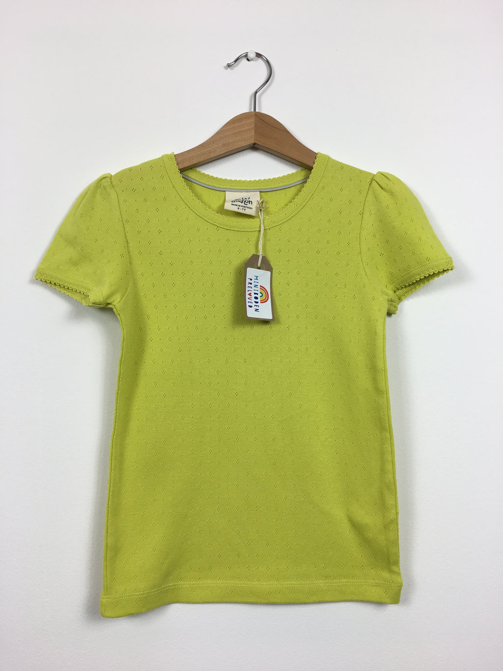 Yellow Pointelle Top