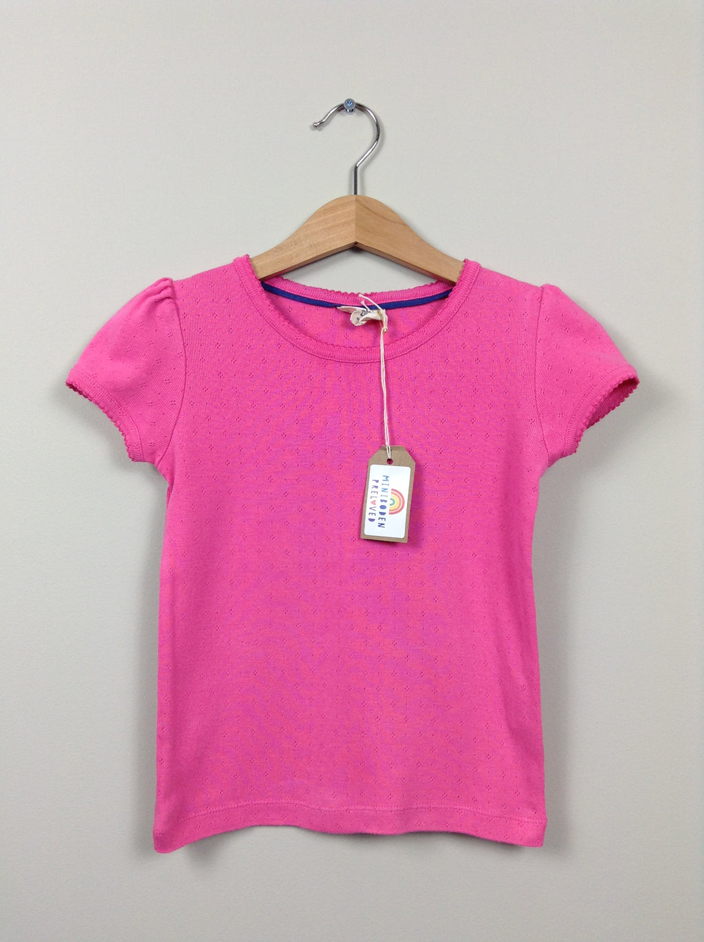 Pink Pointelle Top